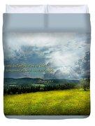 Inspirational - Eternal Hope - Psalms 19-1 Duvet Cover