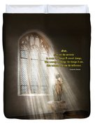 Inspirational - Heavenly Father - Senrenity Prayer  Duvet Cover