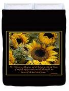 Inspirational Sunflowers Duvet Cover