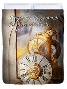 Inspirational - Time - A Look Back In Time - Da Vinci Duvet Cover