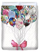 Inspirational Uplifting Floral Balloon Art A Bouquet Of Balloons Just For You By Megan Duncanson Duvet Cover