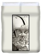 Intensity Peyton Manning Duvet Cover
