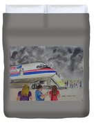 Interam Airlines Flight One Clearwater Florida To Bristol England Duvet Cover