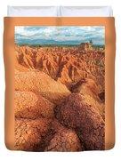 Interesting Desert Landscape Duvet Cover