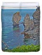 Interesting Rock Shapes In Trinity Bay Near Skerwink Trail-nl Duvet Cover