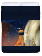 Intergalactic Space Duvet Cover by Kaye Menner