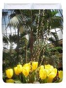Interior Decorations Butterfly Gardens Vegas Golden Yellow Tulip Flowers Duvet Cover