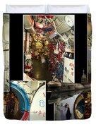 Interior Hatches Collage Russian Submarine Duvet Cover