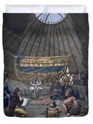 Interior Of A Kalmuk Yurt, 1812-13 Duvet Cover