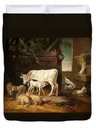 Interior Of A Stable, 1810 Duvet Cover