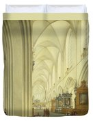 Interior Of Antwerp Cathedral, C.1668 Duvet Cover