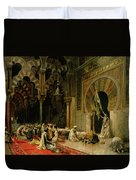 Interior Of The Mosque At Cordoba Duvet Cover by Edwin Lord Weeks
