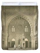 Interior Of The Mosque Of Qaitbay, Cairo Duvet Cover
