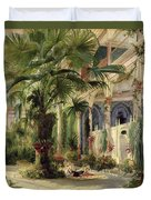 Interior Of The Palm House At Potsdam Duvet Cover