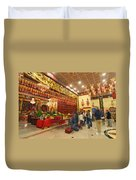 Interior Of Thien Hau Temple A Taoist Temple In Chinatown Of Los Angeles Duvet Cover