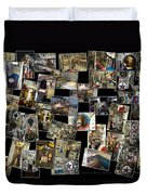 Interior Russian Submarine Horz Collage Duvet Cover