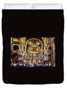 Interior St Marks Basilica Venice Duvet Cover