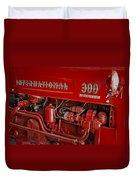 International 300 Utility Harvester Duvet Cover by Susan Candelario