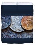 International Coins Duvet Cover
