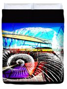 Interstate 10- Cushing St Overpass- Rectangle Remix Duvet Cover