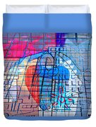 Interstate 10- Exit 255- Miracle Mile Overpass- Rectangle Remix Duvet Cover