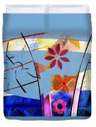 Interstate 10- Exit 256- Grant Rd Underpass- Rectangle Remix Duvet Cover