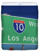 Interstate 10 Highway Signs Duvet Cover