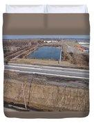 Interstate 75 Construction Ohio Aerial Duvet Cover