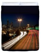 Interstate Traffic In Seattle Washington Duvet Cover