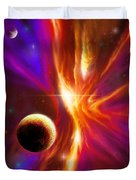 Intersteller Supernova Duvet Cover by James Christopher Hill