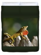 Intimidated Anole Duvet Cover