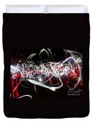 Into Chaos One Last Time...light Painting Duvet Cover
