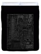 Into Nyc White On Black Duvet Cover