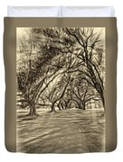 Into The Deep South - Paint 2 Sepia Duvet Cover