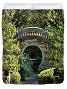 Into The Enchanted Garden Duvet Cover