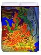Into The Flames Of Hell Duvet Cover