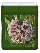 Into The Heart Of A Milkweed Flower Duvet Cover