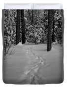Into The Woods Pisgah Forest Black And White Duvet Cover