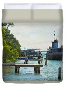 Intracoastal Ship Duvet Cover
