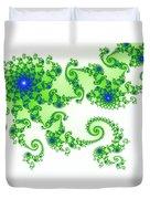 Intricate Green Blue Fractal Based On Julia Set Duvet Cover