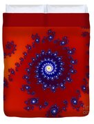 Intricate Red Blue Fractal Based On Julia Set Duvet Cover