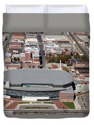 Intrust Bank Arena And Old Town Wichita Duvet Cover