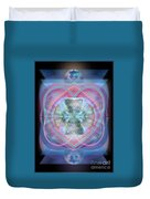 Intwined Hearts Chalice Wings Of Vortexes Radiant Deep Synthesis Duvet Cover
