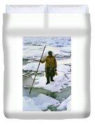 Inuit Seal Hunter Barrow Alaska July 1969 Duvet Cover