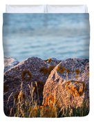 Inverness Beach Rocks  Duvet Cover
