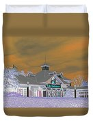 Invert Of The Apple Barn's Christmas Shop In Pigeon Forge Tennessee Duvet Cover