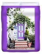 Invitation Greeting Card - Street Garden Duvet Cover