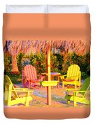 Invitation To Florida Sunset Duvet Cover