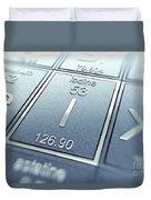 Iodine Chemical Element Duvet Cover