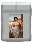 Ionian Dancking Girl Duvet Cover